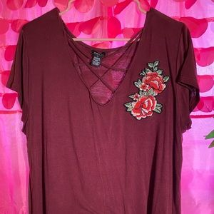 Maroon cute shirt!